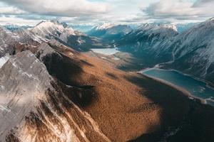 Drone View Landscape Mountains Top View Wallpaper