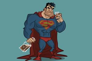 Drunk Superman 4k