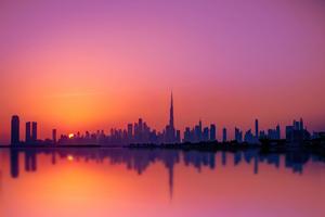 Dubai City Silhouette 5k