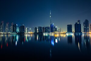 Dubai Skyscrapers Emirates UAE Night 5k Wallpaper