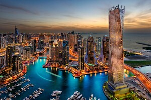 Dubai Uae Building Skyscrappers Night