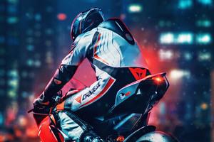 Ducati Rider 4k Wallpaper