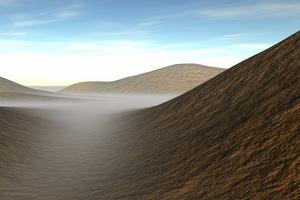 Dunes Fog Landscape 4k