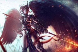 Dungeons Dragon Fantasy Girl Wallpaper