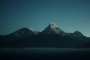 Dusk Mountains 4k