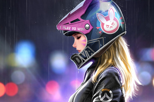 Dva Biker Girl Wallpaper