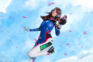 Dva Cosplay Wallpaper