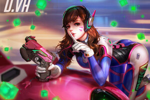 Dva Overwatch Art Wallpaper