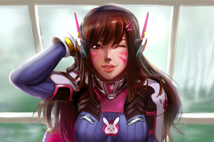 Dva Overwatch Art New Wallpaper