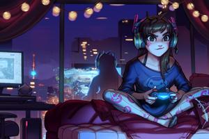 Dva Overwatch Cute Artwork