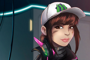Dva Overwatch Digital Art 4k Wallpaper