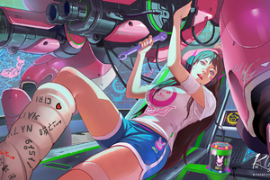 Dva Overwatch Fixing Her Ride 4k