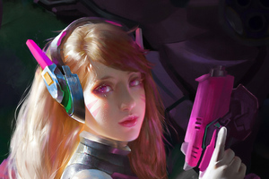 Dva Overwatch Game Art 4k Wallpaper