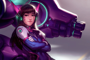 Dva Overwatch Game Artwork 4k Wallpaper