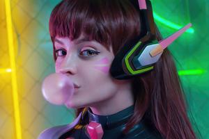 Dva Overwatch Game Cosplay Girl 4k Wallpaper