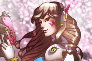 Dva Overwatch Games Artwork Wallpaper