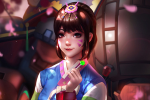 Dva Overwatch Liang Xing 4k Wallpaper