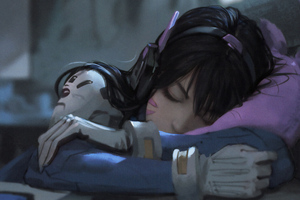 Dva Taking Nap Wallpaper