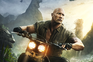 Dwayne Johnson As Dr Smolder Bravestone Jumanji Welcome To The Jungle Wallpaper