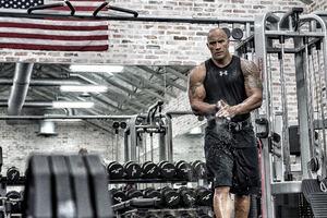 Dwayne Johnson In Gym 4k