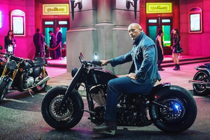 Dwayne Johnson On Harley Davidson Wallpaper