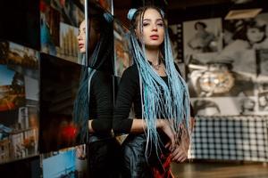 Dyed Hair Girl Wallpaper