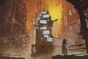 Dystopian City Concept 5k Wallpaper