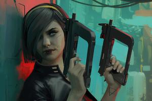 Dystopian Mafia Girl 4k Wallpaper