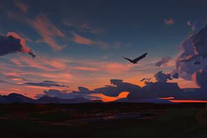 Eagle In Sky 5k