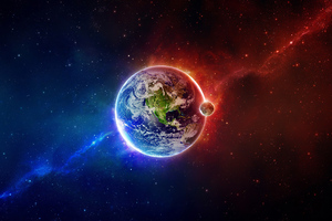 Earth Digital Art Wallpaper