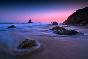 Earth Ocean Rock Sunset Long Exposure 5k Wallpaper