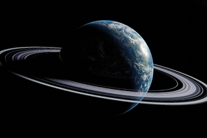 Earth With Saturn Like Rings 5k Wallpaper