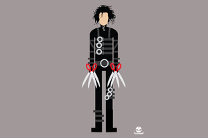 Edward Scissorhands Minimalism 4k Wallpaper