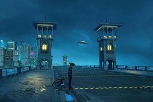 Egypt 2077 On Stanly Bridge 5k Wallpaper