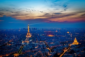 Eiffel Tower France City At Night 5k