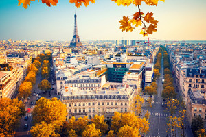 Eiffel Tower Paris City Autumn 4k 5k