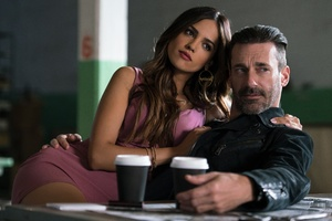 Eiza Gonzalez And Jon Hamm In Baby Driver 4k 5k