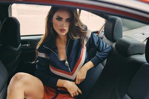 Eiza Gonzalez In Car Wallpaper