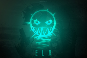 Ela Tom Clancys Rainbow Six Siege Minimalism 12k Wallpaper
