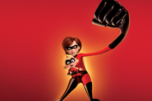 Elastigirl And Jack Jack Parr In The Incredibles 2