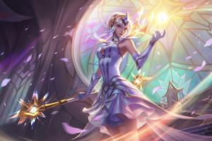 Elementalist Lux Splash Art League Of Legends