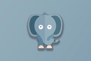 Elephant Minimal 4k