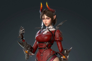 Elf Anime Warrior Girl 4k