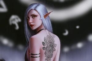 Elf Back Tattoo