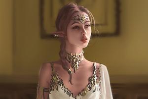 Elf Girl Fantasy Art 4k Wallpaper