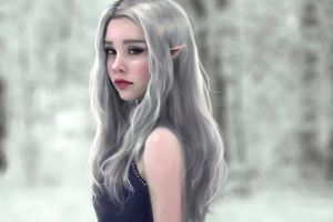 Elf Girl Wallpaper