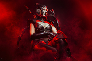 Elise League Of Legends Cosplay Wallpaper