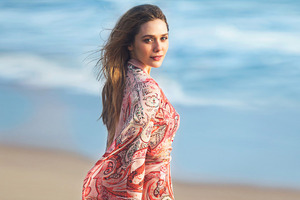 Elizabeth Olsen In Beach Photoshoot