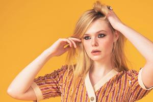 Elle Fanning Sag Awards Photoshoot 8k Wallpaper
