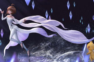 Elsa Frozen Anime Character 4k Wallpaper